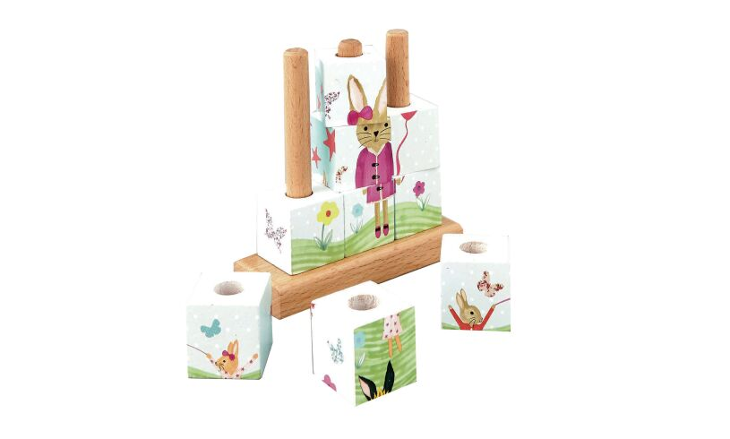 Floss and Rock Bunny Cube Puzzle