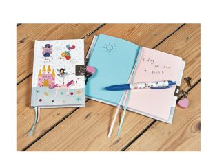 Floss and Rock Fairy Unicorn Lockable Journal