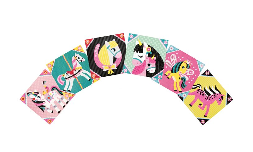 Janod horse sand cards