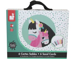 Janod Horses Sand Cards Set