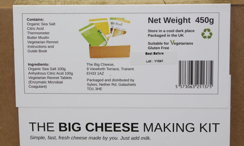 Big Cheese Making Kit Ingredients