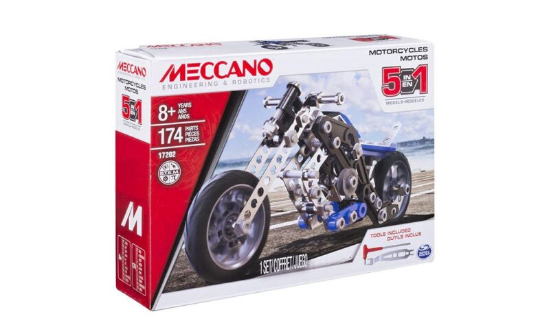 Meccano 5 Motorcycles Model Set 17202
