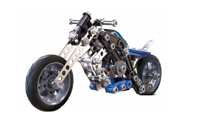 Meccano 5 Motorcycles Model Set