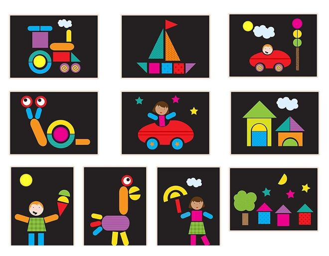 Fiesta Crafts Magnetic Shapes Examples