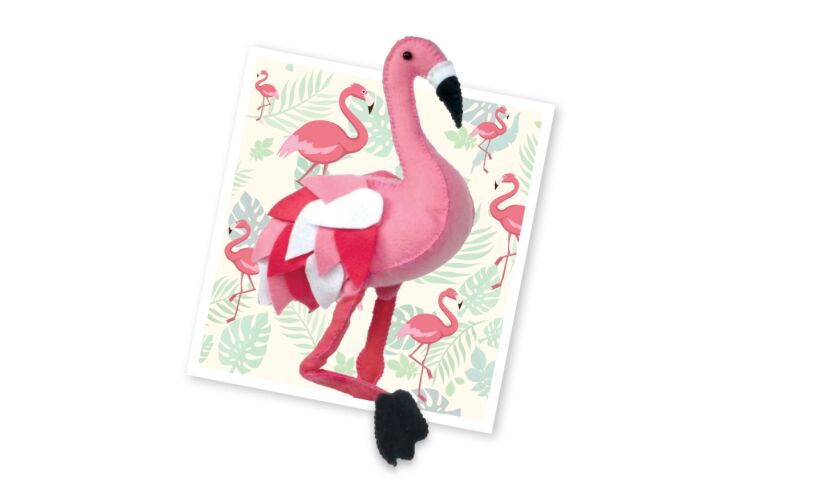 Crafty Kit Company Pretty Flamingo Sewing Kit