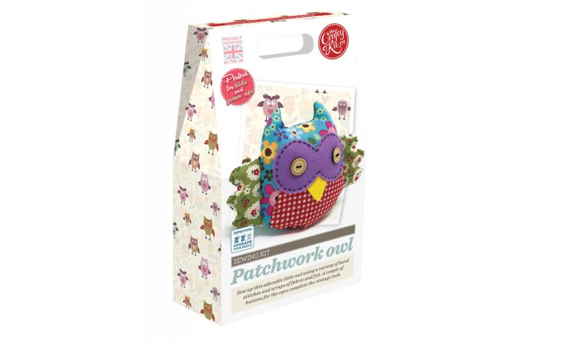Crafty Kit Co Patchwork Owl Sewing Kit