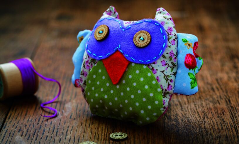 Patchwork Owl Sewing Kit Lifestyle