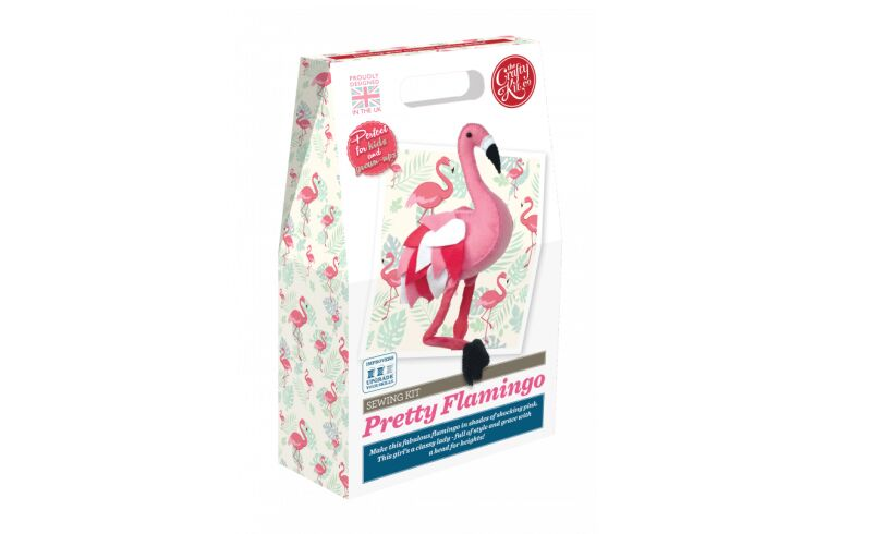 Crafty Kit Co Pretty Flamingo Sewing Kit
