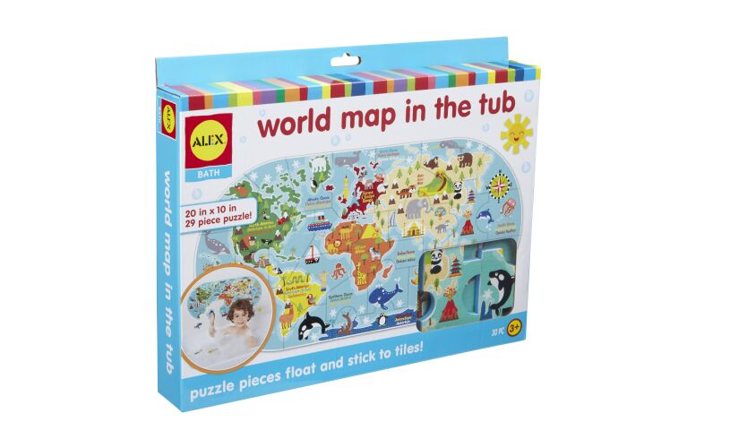 Alex Brands World Map in the Tub