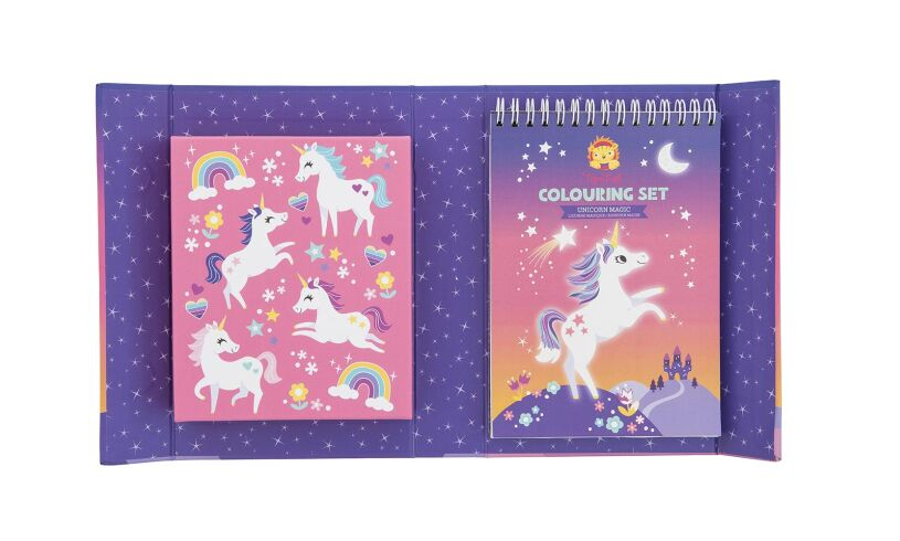 Unicorn Colouring Set Contents