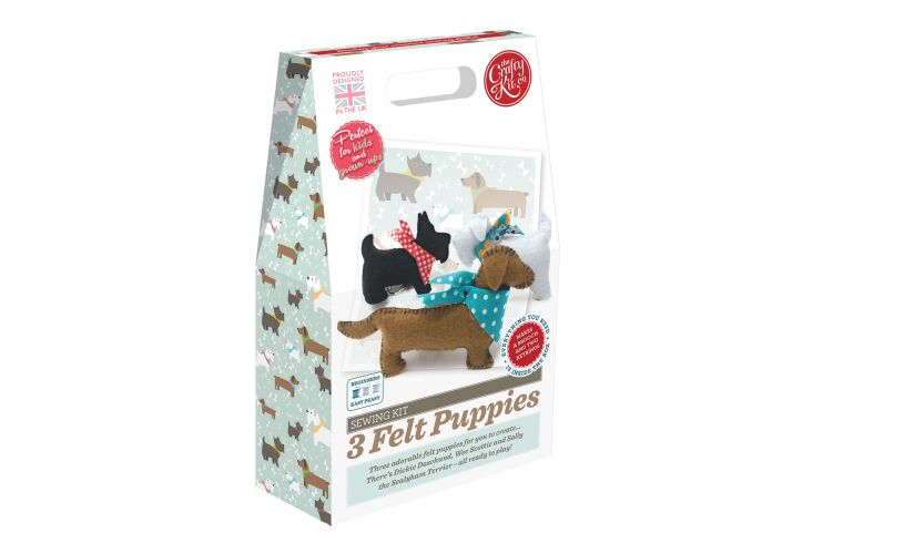 Crafty Kit Co Felt Puppies Sewing Kit