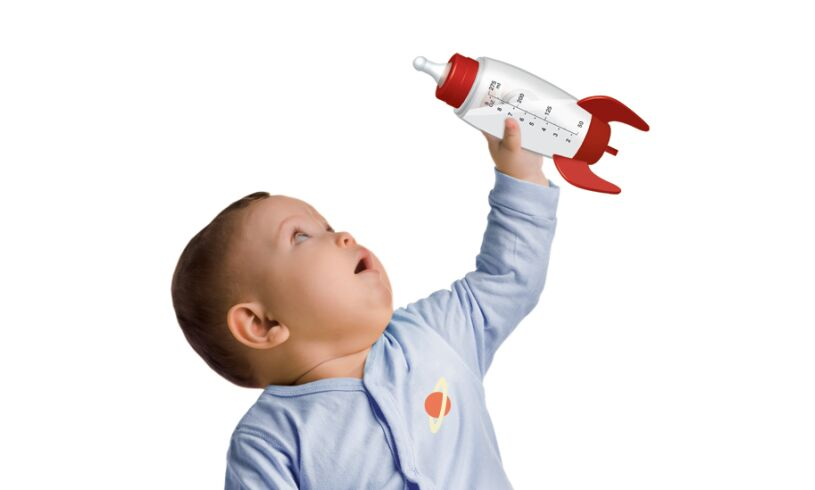 Space Rocket Baby Bottle Lifestyle