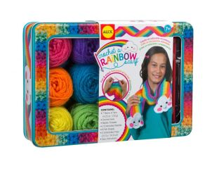 Alex Brands Crochet a Rainbow Scarf