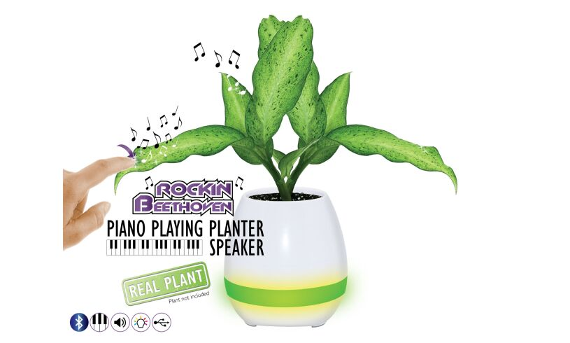 Piano Playing Planter Speaker