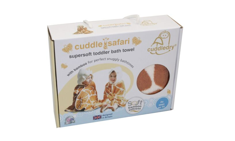 cuddle safari toddler bath towel
