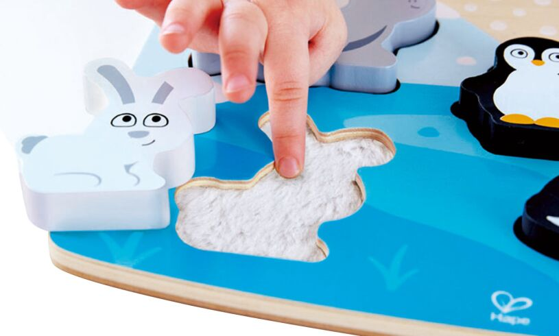 Hape Wooden Tactile Animal Puzzle