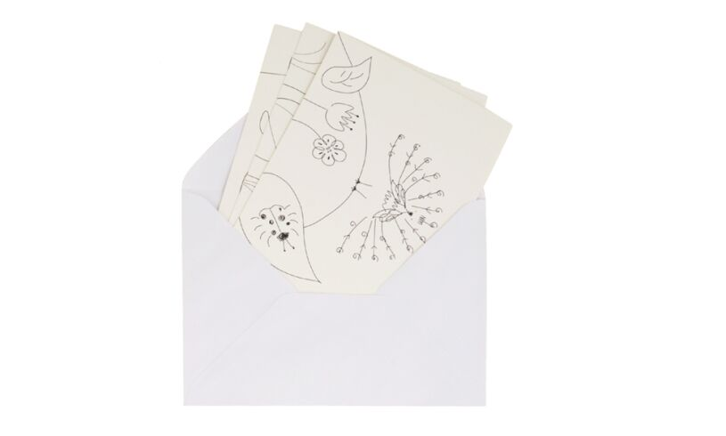 Fingerprint Buddies Greetings Card