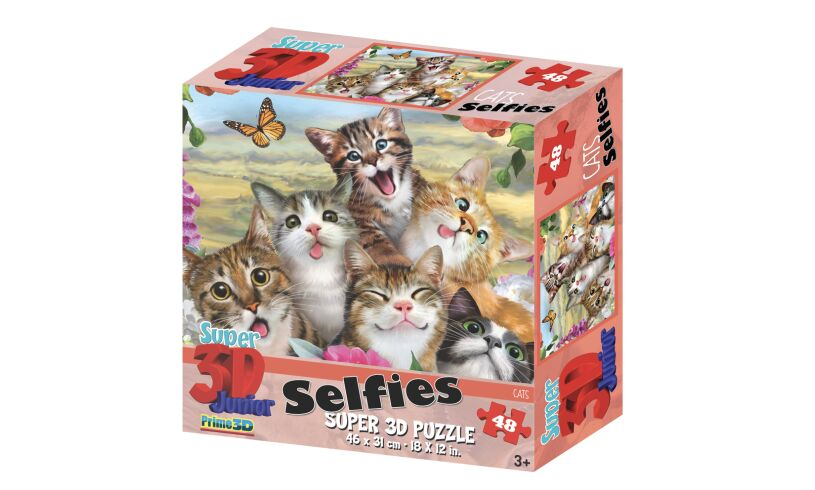 Selfies Super 3D Puzzle Cats
