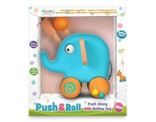 Fiesta Crafts Blue Elephant Push & Roll