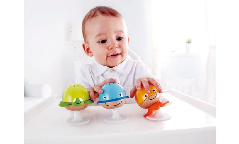 Hape Stay Put Sea Animal Rattle Set E0330
