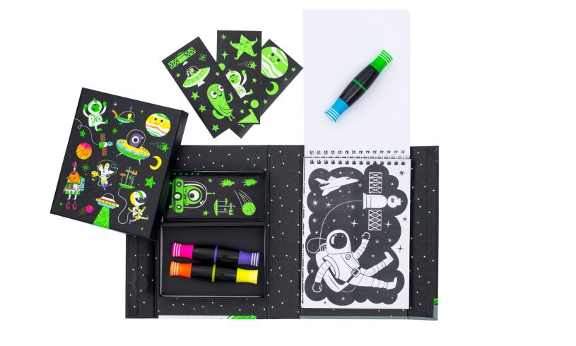 Tiger Tribe Neon Colouring Set Outer Space