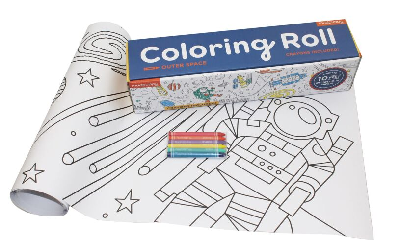 Mudpuppy Colouring Roll Outer Space