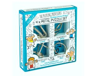 Professor Puzzle 4 Metal Puzzle Set