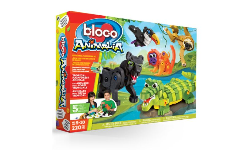 Bloco Tropical Rain Forest Animals Box