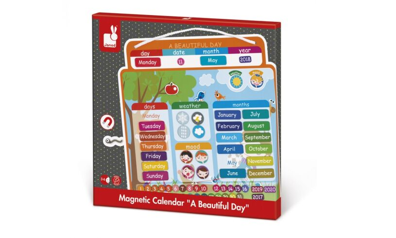 Janod Magnetic Calendar A Beautiful Day