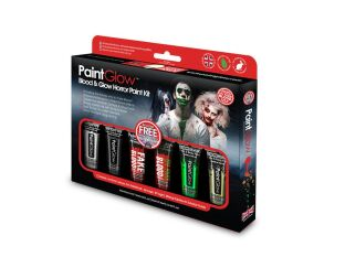 PaintGlow Blood & Glow Horror Paint Kit
