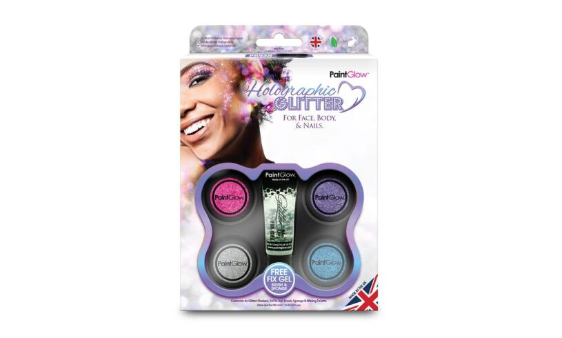 Holographic Glitter Face Body Nails