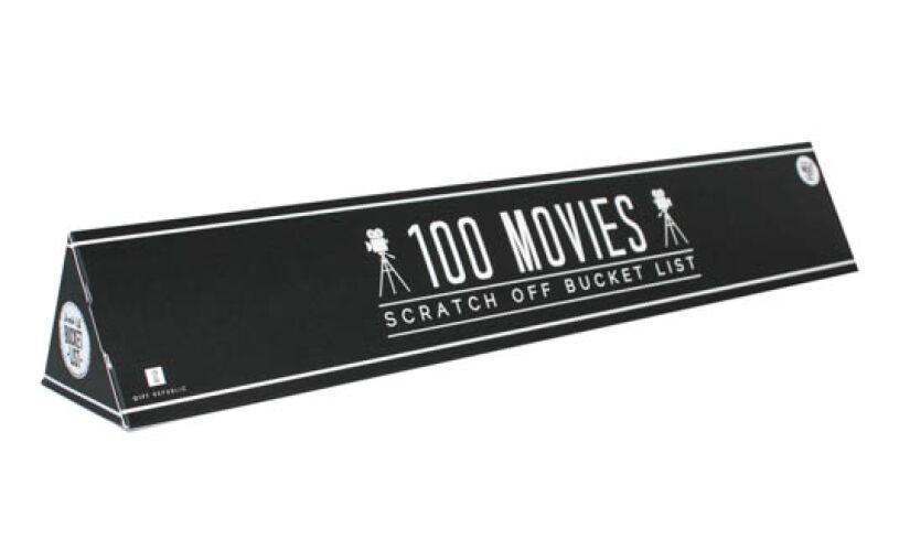 Gift Republic 100 Movies Scratch off Bucket List