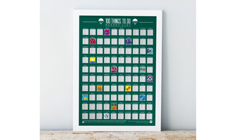 100 Things to Do Scratch off Bucket List