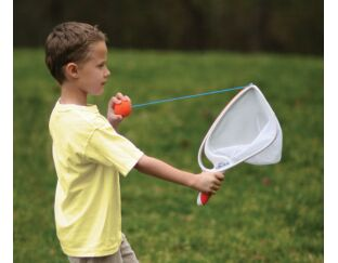 slingball catch game launches up to 125 feet