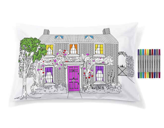 Eat Sleep Doodle Home Decorator Pillowcase