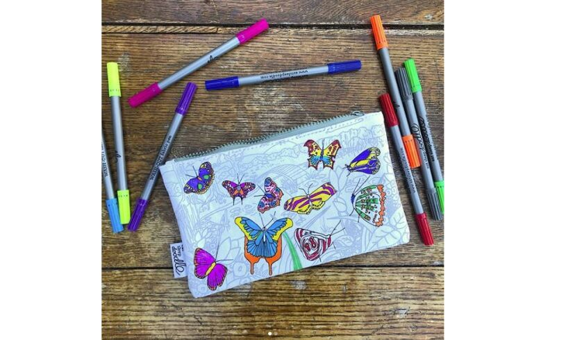 Eat Sleep Doodle Butterfly Pencilcase