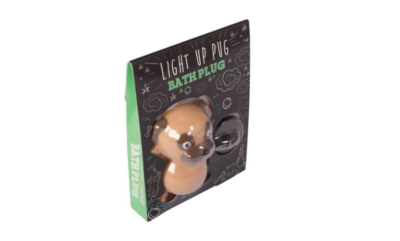 Fizz Creations Light Up Pug Bathplug