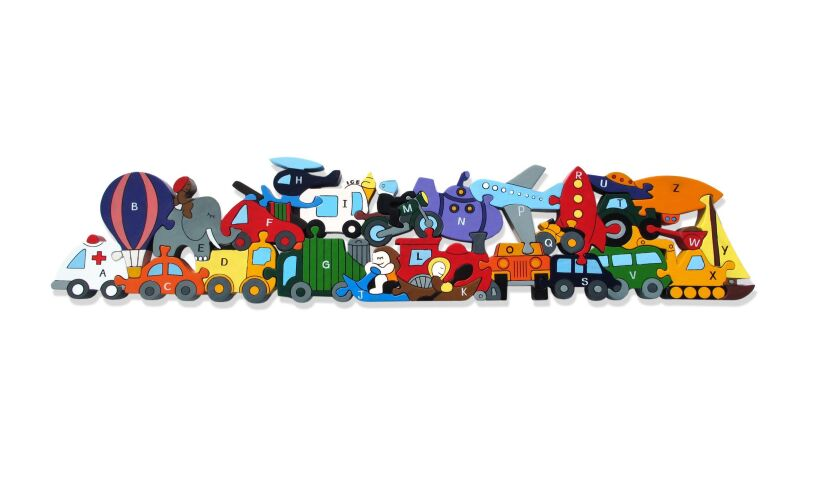 Alphabet Transport Jigsaw Puzzle