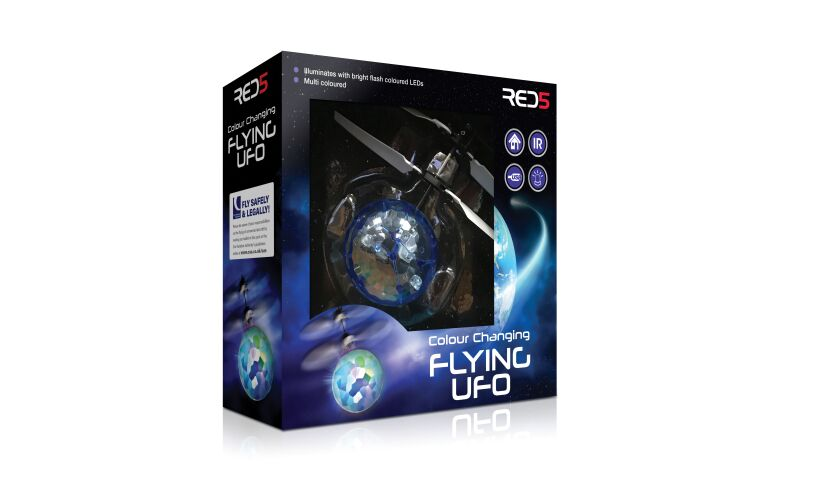 Colour Changing Flying UFO Box