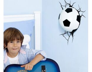 3D Football Nightlight - Through the Wall!