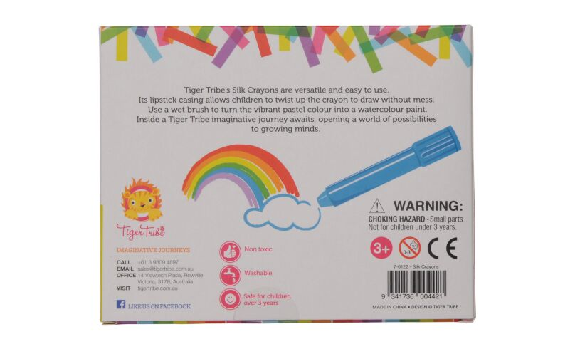 Tiger Tribe Silk Crayons Box