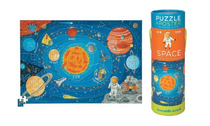 Space puzzle and poster