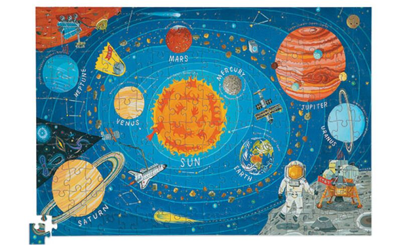 Crocodile creek space puzzle and poster