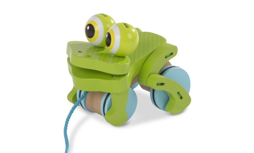 Frolicking Frog Pull Along