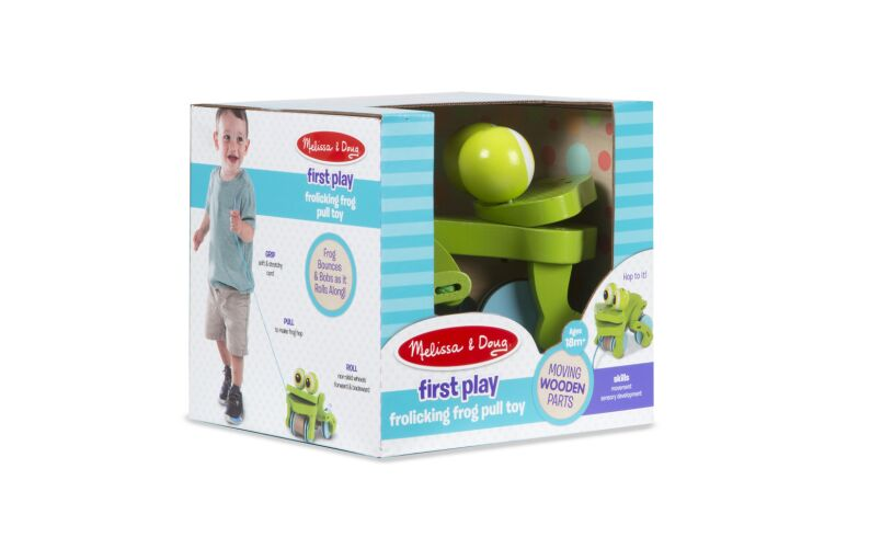 Frolicking Frog Pull Along Box