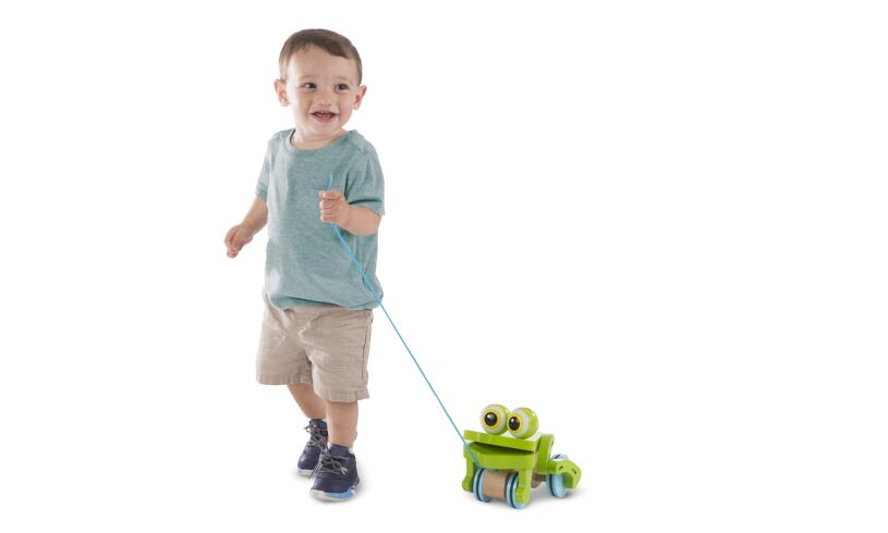 Melissa and Doug Frolicking Frog Pull Along