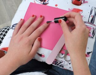 Nail Varnish Manicure Cushion Lifestyle
