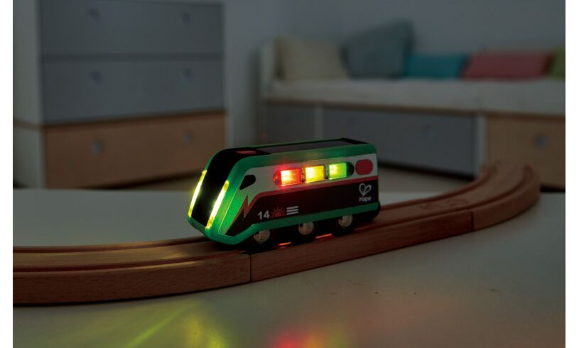 Solar power toy train