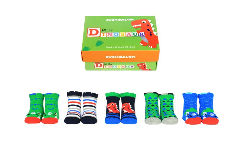 D is for Dinosaur Socks