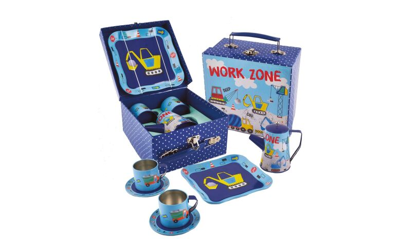 Floss and rock work zone tea set